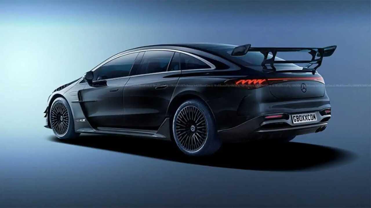 Mercedes EQS AMG Black Series rendering