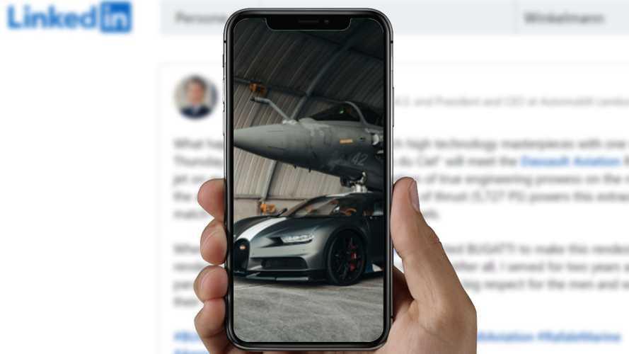 Una drag race esagerata: la Bugatti Chiron sfida un jet militare