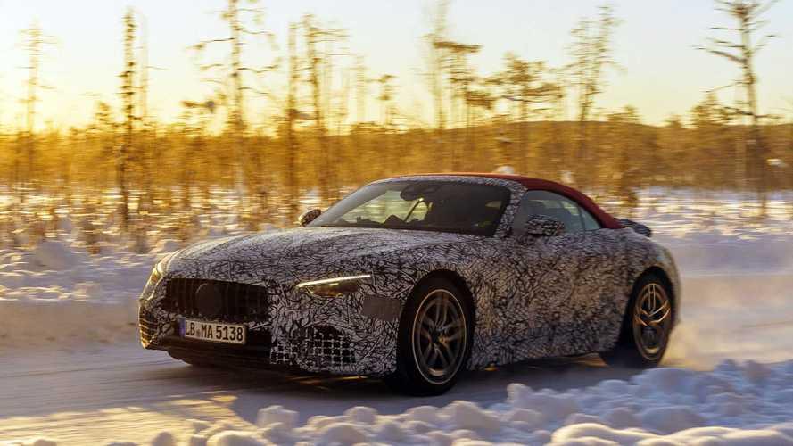 Nuova Mercedes-AMG SL, gli ultimi test sulla neve. Foto spia