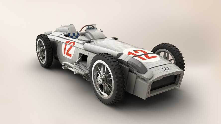 This Lego Fangio's Mercedes W196R build isn't official, but it should