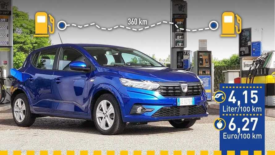 Tatsächlicher Verbrauch: Dacia Sandero TCe 90 (2021) im Test