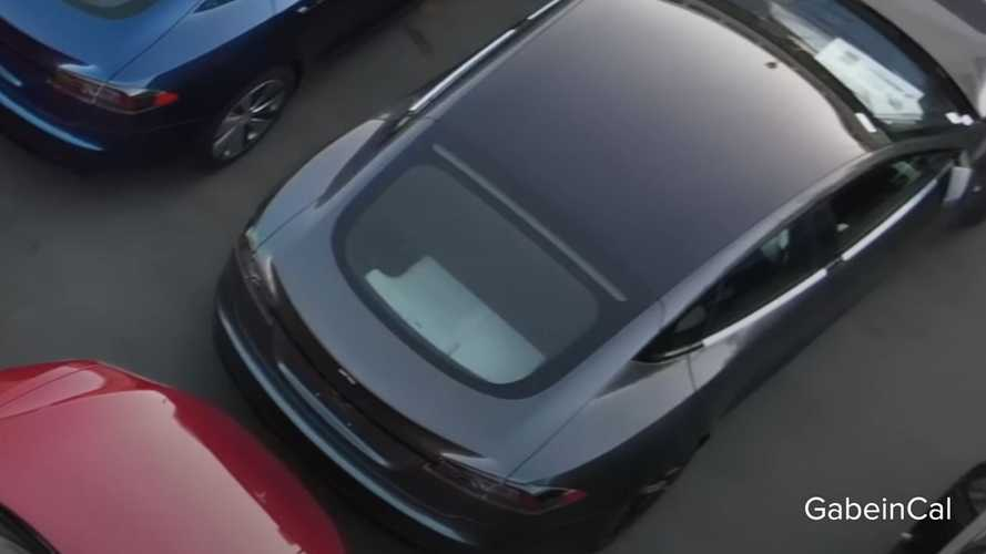 Refreshed Tesla Model S with third-row seats spotted in flyover