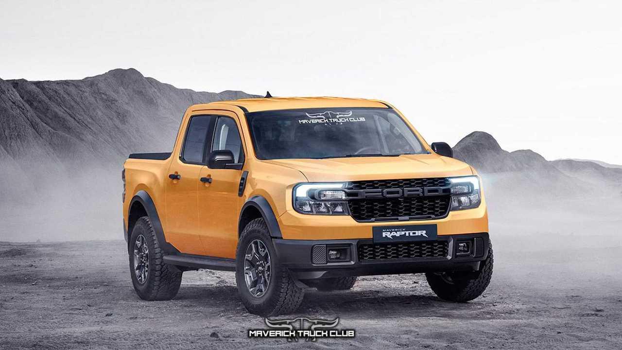 Ford Maverick Raptor em projeção