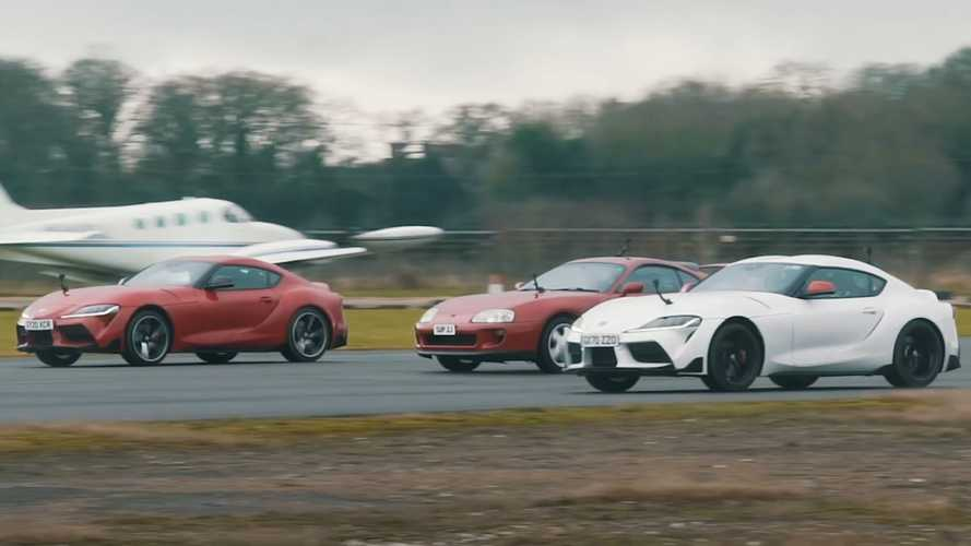 Can 2.0L Supra Prove Its Worth Against 3.0L Supras In A Wet Drag Race?