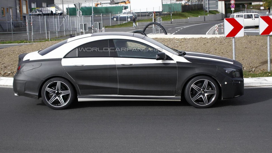 Mercedes-Benz CLA spied once again