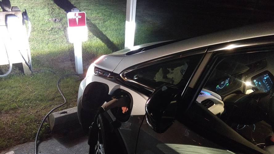 Charging Bolt EV At Tesla Destination Station? Sure You Can!