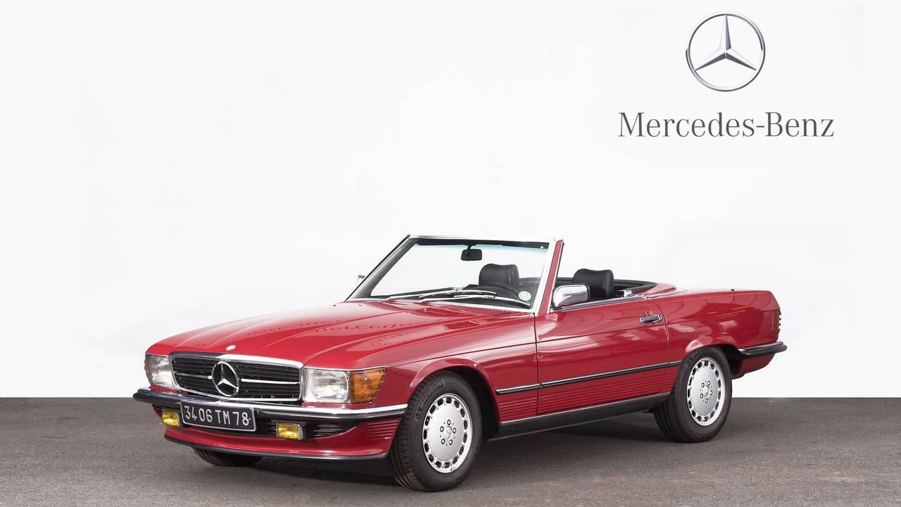 1988 mercedes benz 500 sl cabriolet toit rigide foto france. Black Bedroom Furniture Sets. Home Design Ideas