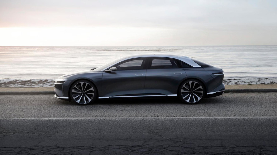 Lucid Motors Showcases Revised Air Electric Sedan In Monterey