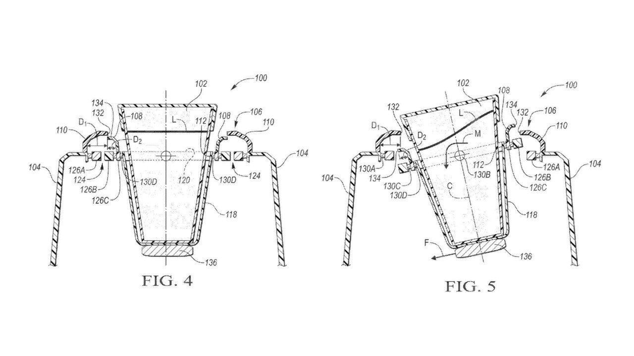 Ford Patents Self-Leveling Cup Holder