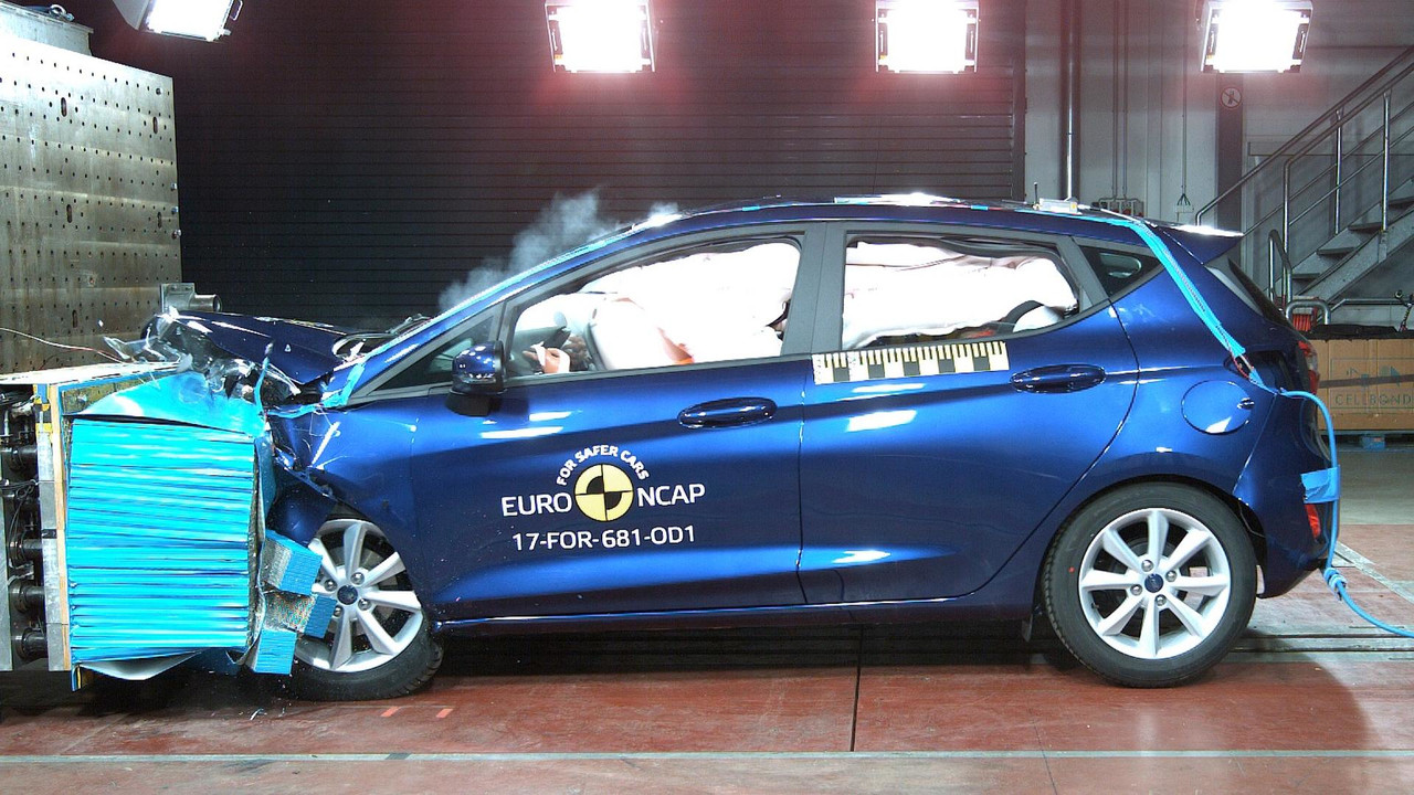 2018 Ford Fiesta Euro NCAP crash test