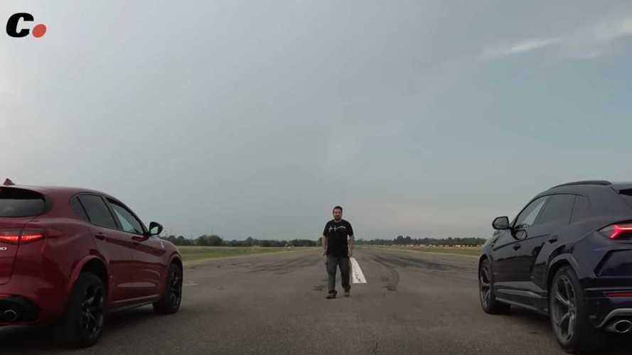 VIDÉO - L'Alfa Romeo Stelvio QV défie le Lamborghini Urus
