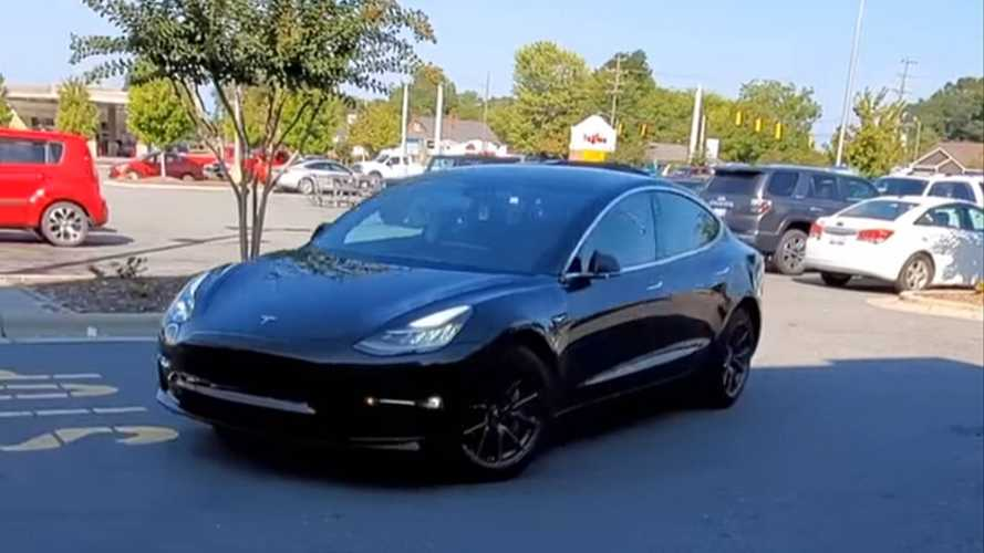 Priceless Reaction: Dude! There's No Human Driving That Tesla Model 3