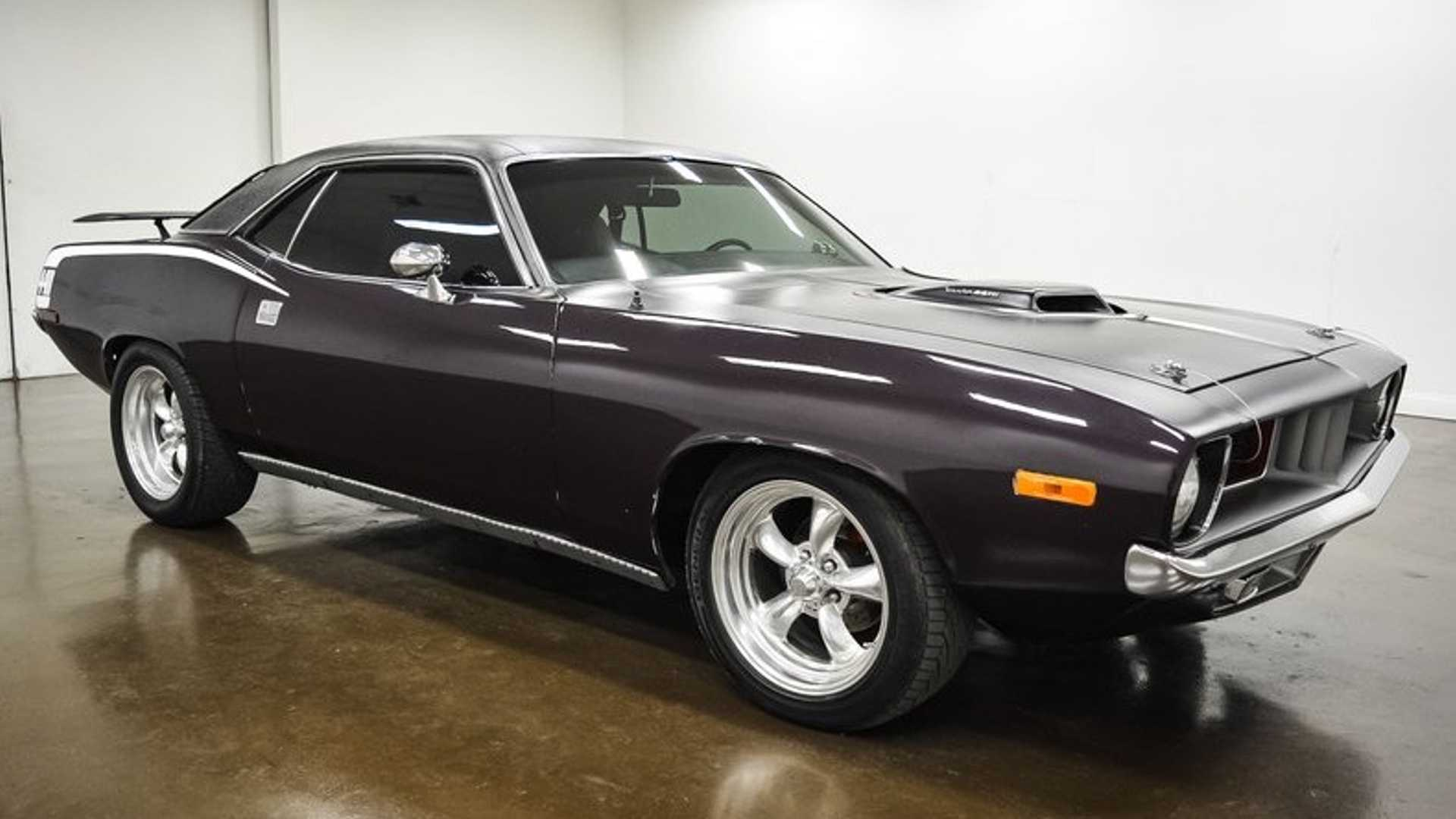 """[""""Cure The Blues With This Stunning 1974 Plymouth Cuda""""]"""
