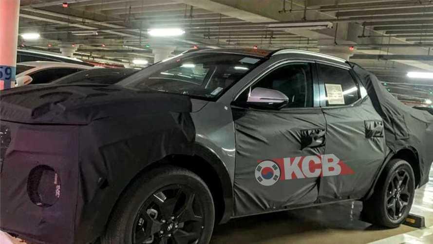 Flagra: Picape Hyundai Santa Cruz aparece em testes pela primeira vez