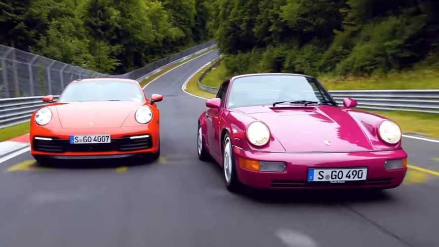 Yeni ve eski Porsche 911 Ring'de kozlarını paylaştı