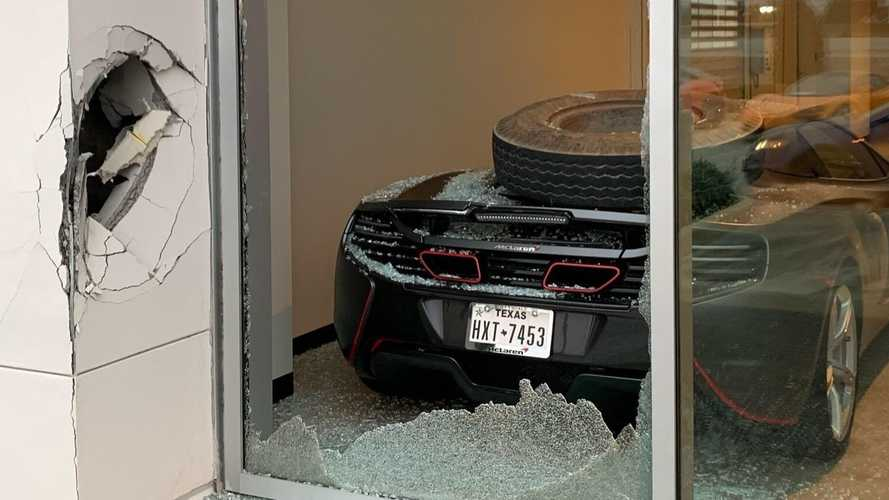 Trevor Bauer's McLaren 650S Damaged By Semi's Loose Tire