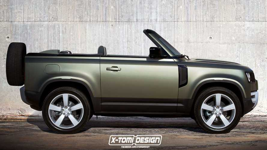 New Defender rendered as a commanding convertible