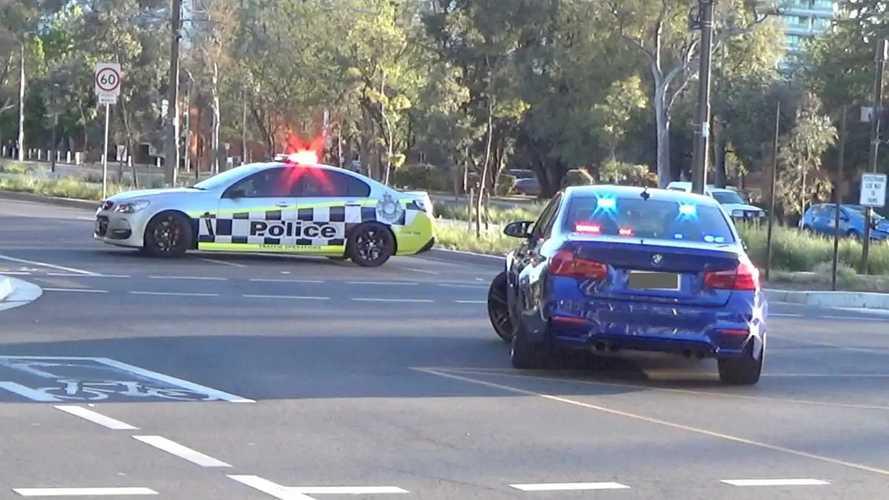 BMW M3 de la policía australiana camuflado