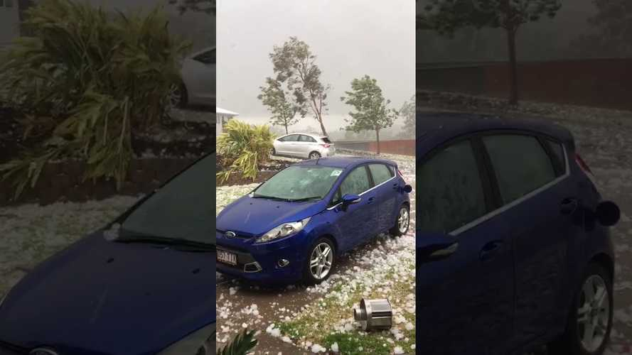 Watch This Ford Get Pummeled By Freak Hailstorm In Australia