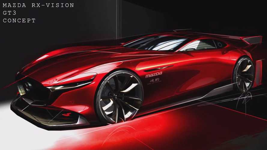 Mazda RX-Vision GT3 Concept Looks Slick In Official Teaser Sketch