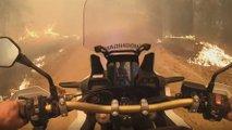 africa twin rider escape aussie bushfire