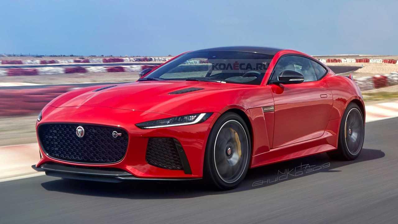 2021 Jaguar F-Type facelift rendering