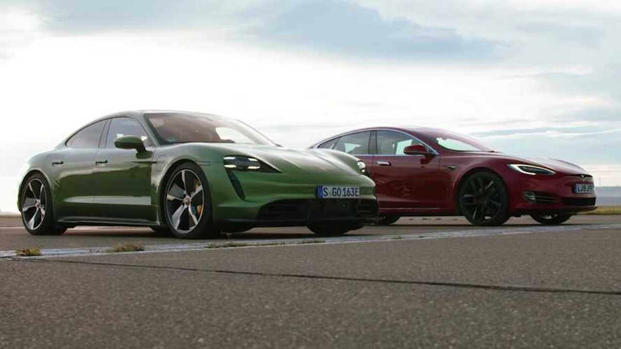Legjobb hajtómű Porsche Taycan Turbo S Versus Tesla Model S