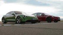 Top Gear Porsche Taycan Turbo S Versus Tesla Model S