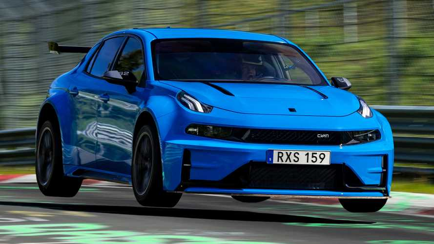 Lynk & Co 03 Cyan Concept sets FWD and saloon Nurburgring records