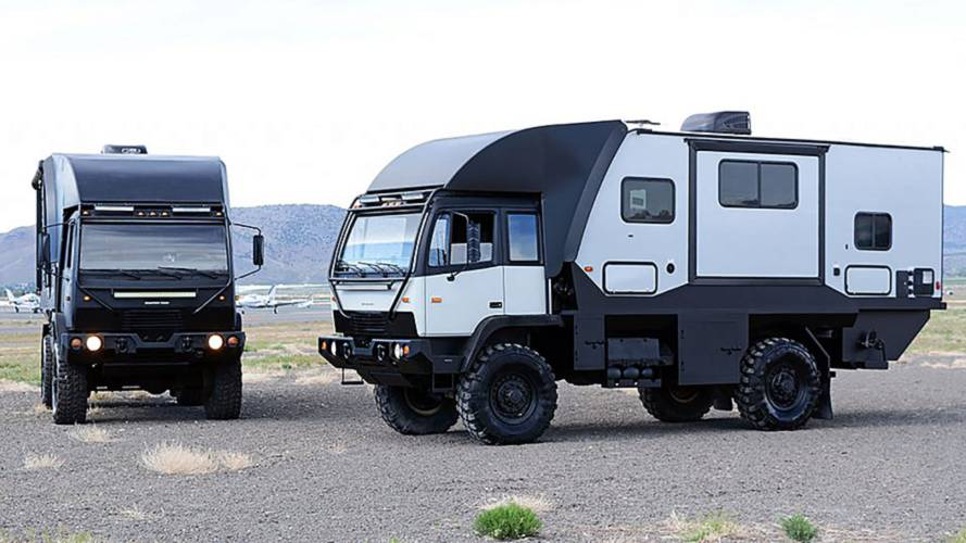 This military vehicle is disguised as an off-road motorhome