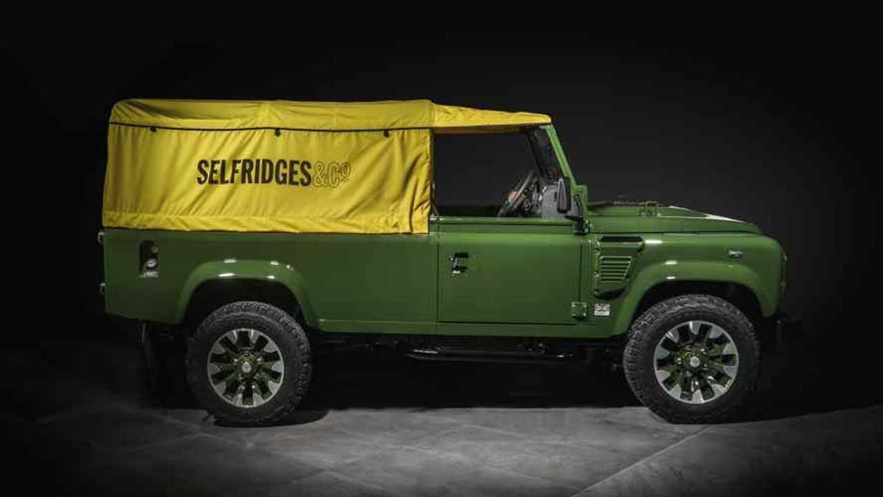 Land Rover Defender Works V8 110 Soft Top Selfridges Edition