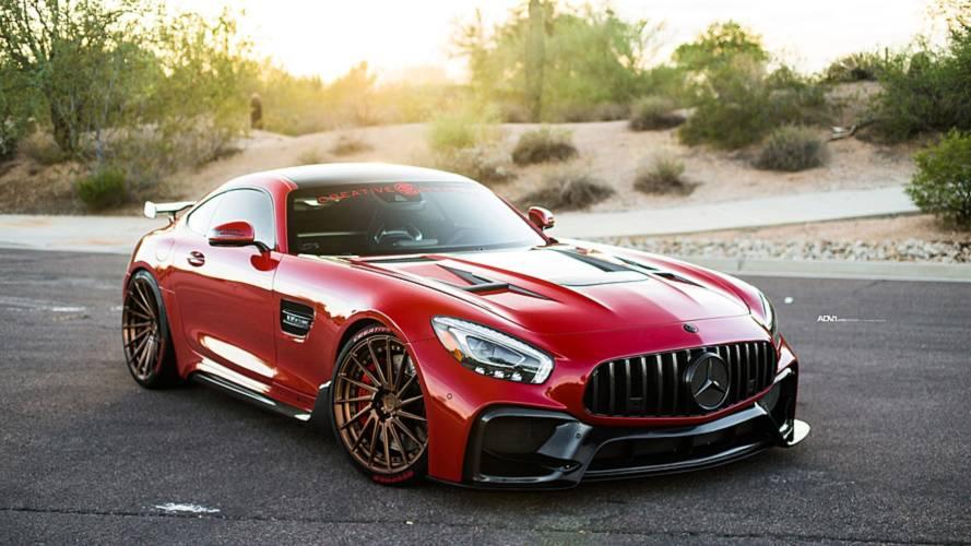 Fazla modifiyeli Mercedes-AMG GT S adeta AMG GT R'a dönüşmüş