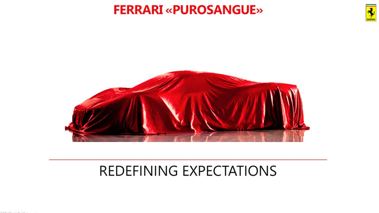 Ferrari Purosangue, il primo teaser dell'Utility Vehicle