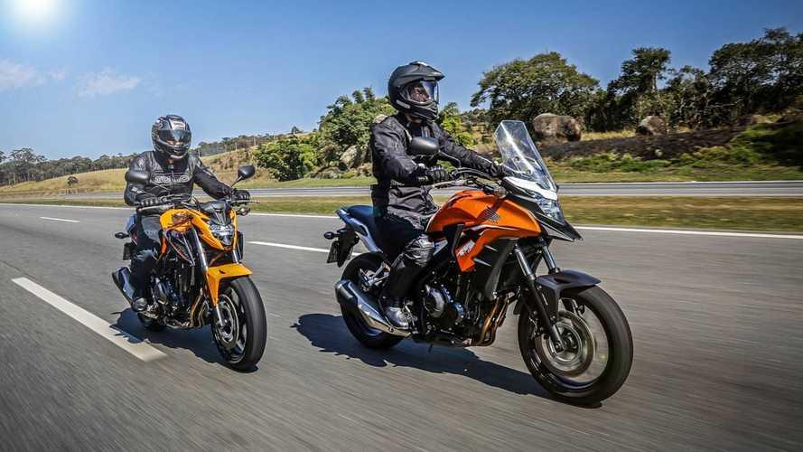 Honda CB 500X e CB 500F 2019 trazem novas opções de cor