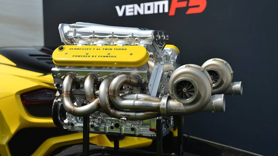 Hennessey Shows Off 1,600-HP Venom F5 Engine In Monterey