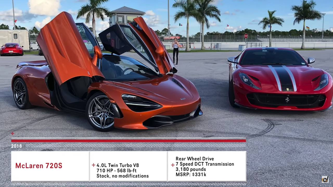 Ferrari 812 Superfast Vs. McLaren 720S