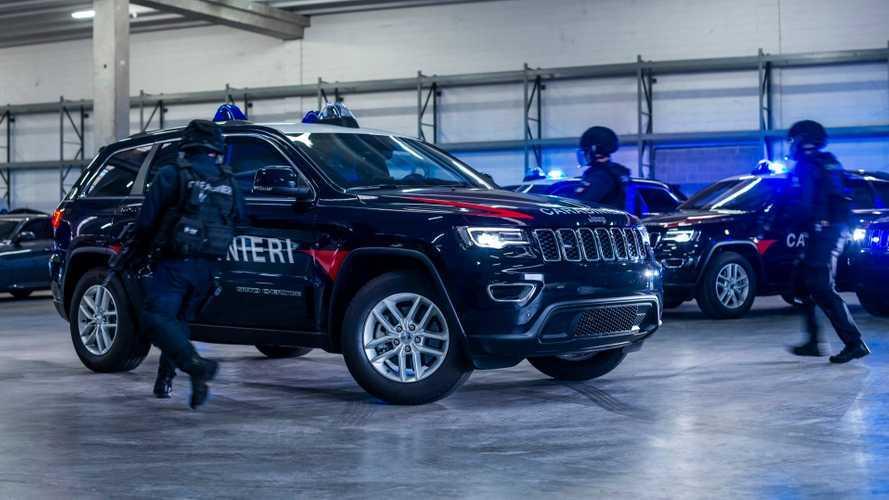 La Jeep Grand Cherokee dei Carabinieri