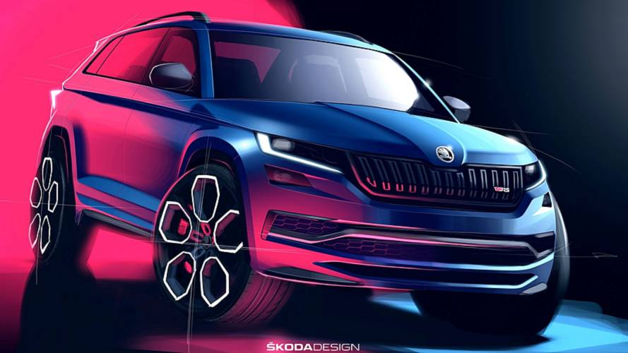 Skoda Kodiaq RS sketches make it look nicer than the real thing
