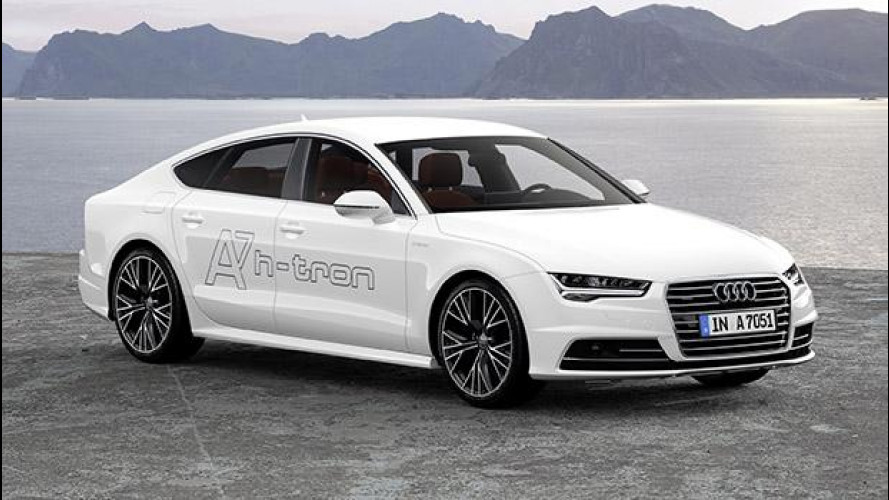 Audi A7 Sportback h-tron quattro, plug-in all'idrogeno