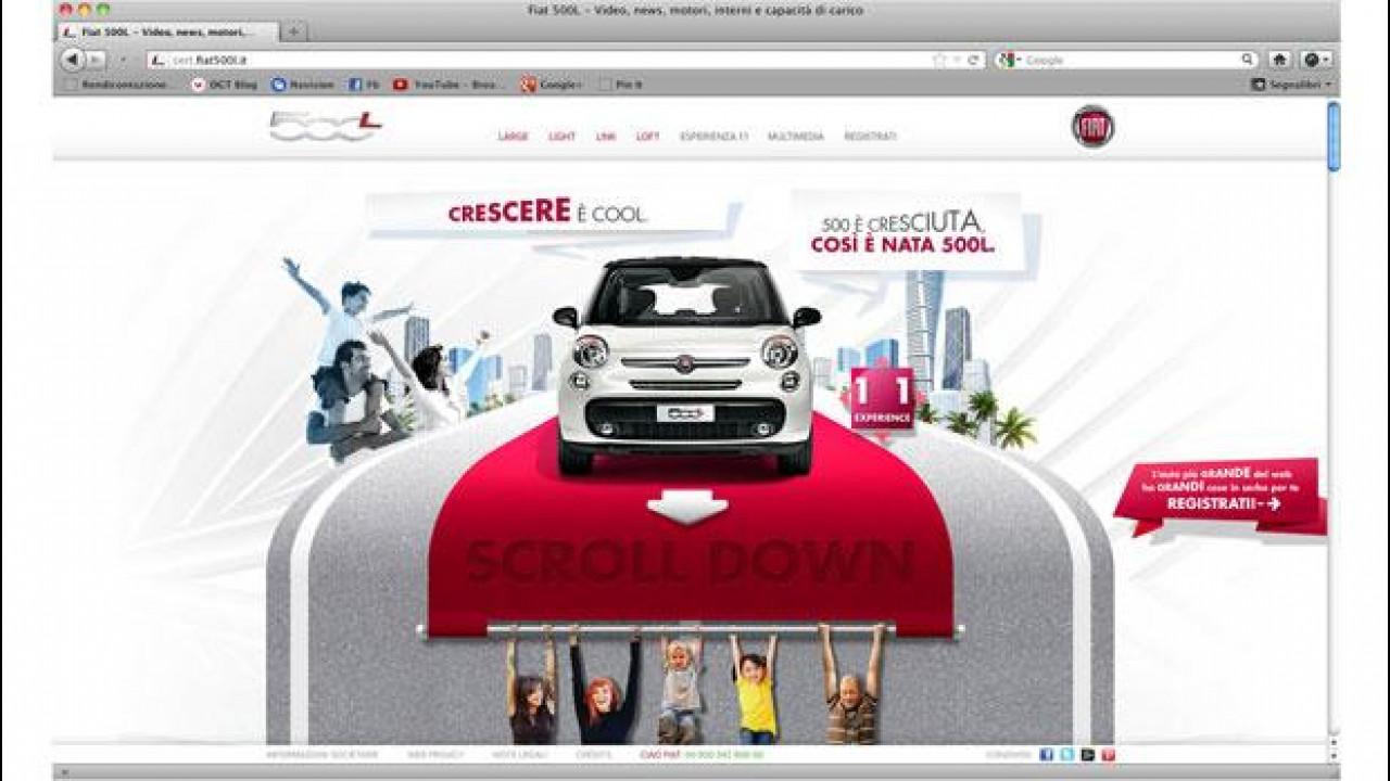 [Copertina] - Fiat 500L è a grandezza naturale sul web
