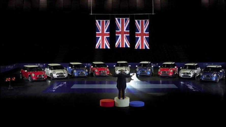 Nove MINI intonano l'Inno nazionale inglese per le Olimpiadi di Londra