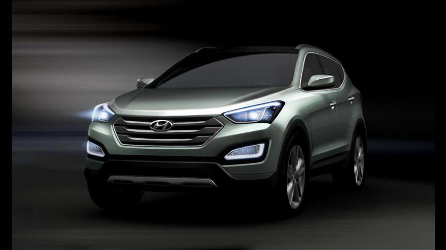 Nuova Hyundai Santa Fe, i primi bozzetti