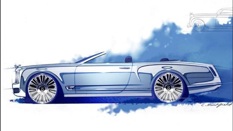 Bentley Mulsanne Convertible Concept: i primi disegni