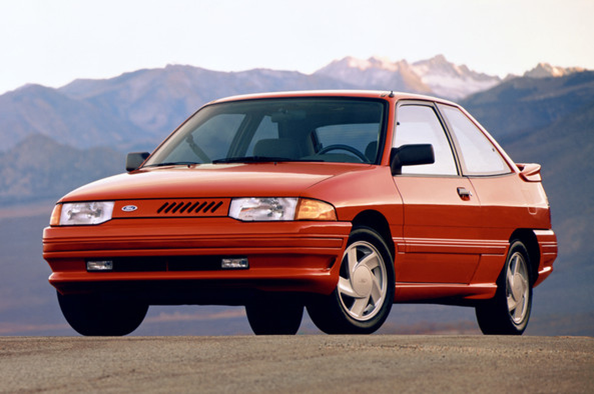 1991 ford escort gt may not have power but is corny beyond its years video