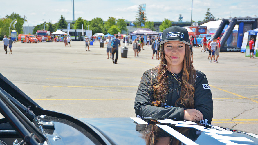 Sara Price sponsored by BitTorrent is first female driver in Stadium Super Trucks