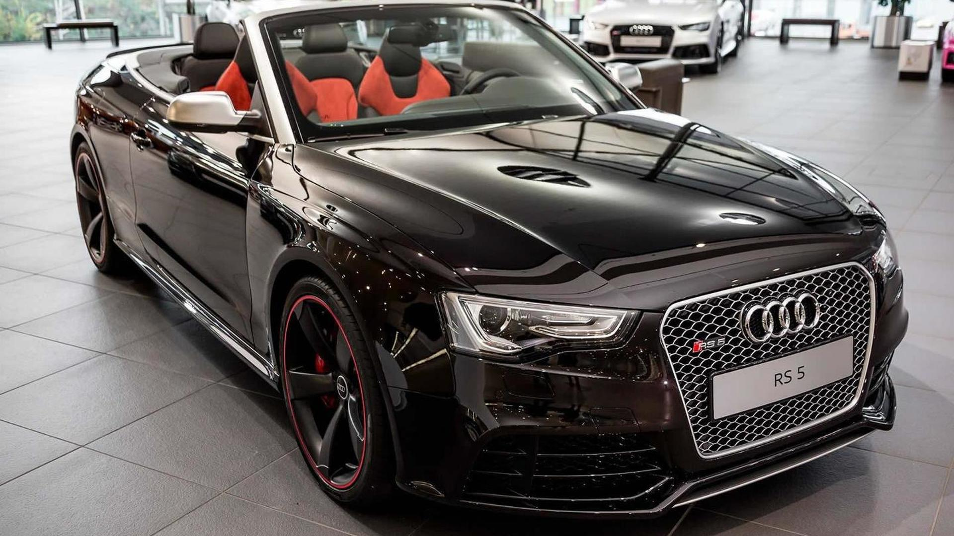 RS5 Cabriolet in Ruby Black metallic pampered with Audi Exclusive ...