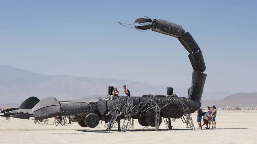Flame-throwing Scorpion truck from Burning Man for sale