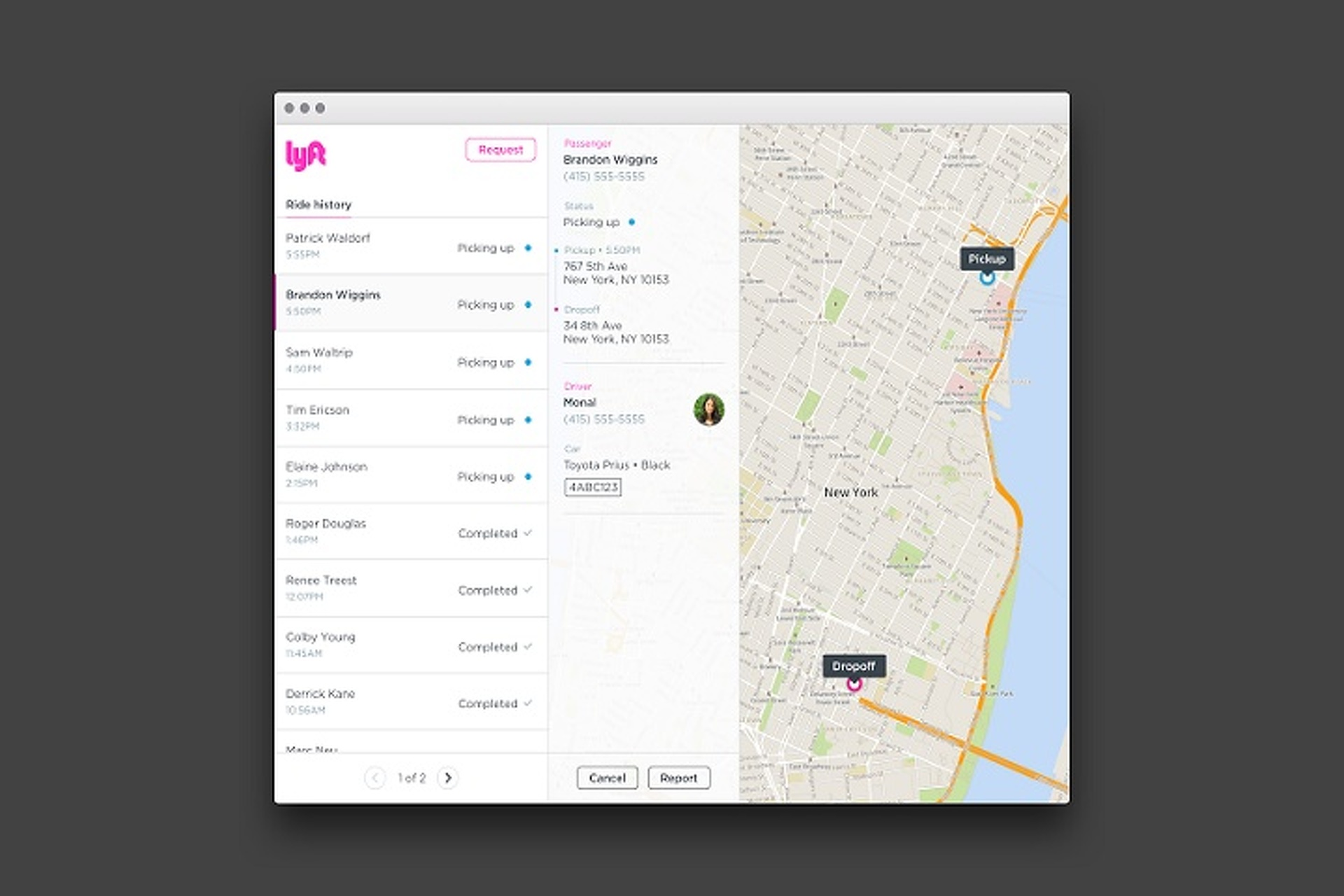 Lyft without smartphone