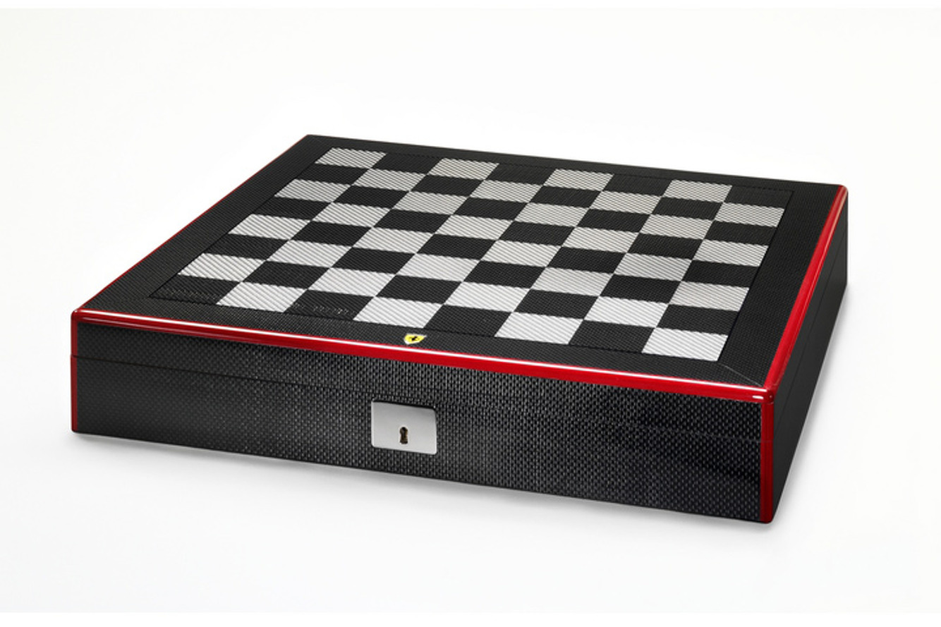 Make Your Move on this Carbon Fiber Ferrari Chess Set