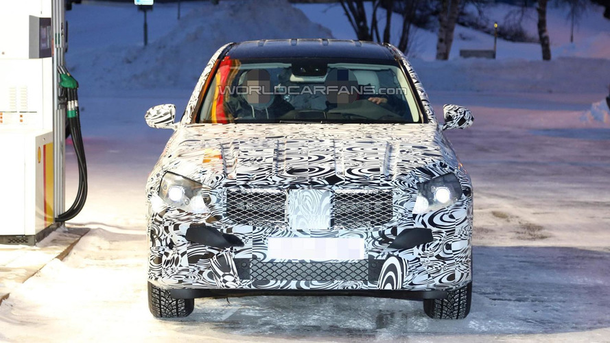 Bigger 2015 Mercedes-Benz GLK spied during winter testing